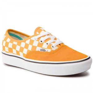 Vans Turnschuhe Comfycush Authent VN0A3WM7VNC1 (Checker) Zinnia/True Wht [Outlet]