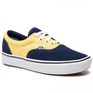 Vans Turnschuhe Comfycush Era VN0A3WM9VNO1 (Suede/Canvas) Dress Blue [Outlet]