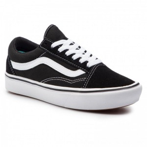 Vans Turnschuhe Comfycush Old Sko VN0A3WMAVNE1 (Classic) Black/True Whit [Outlet]
