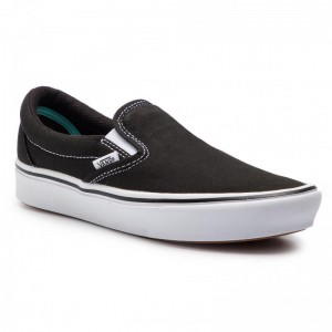 Vans Turnschuhe ComfyCush Slip-On VN0A3WMDVNE1 (Classic) Black/True Whit [Outlet]