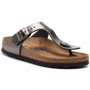 [BLACK FRIDAY] Birkenstock Zehentrenner Gizeh Bs 1003677 Metallic Anthracite