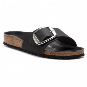 Birkenstock Pantoletten Madrid Big Buckle 1006523 Black [Outlet]