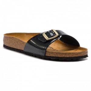Birkenstock Pantoletten Madrid Bs 1009043 Magic Snake Black [Outlet]