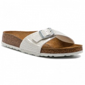 Birkenstock Pantoletten Madrid Bs 1009045 Magic Snake White [Outlet]