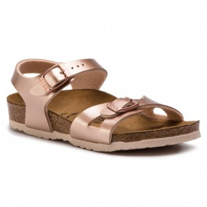 Birkenstock Sandalen Rio Kids 1012520 Electric Metallic Copper [Outlet]