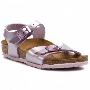 Birkenstock Sandalen Rio Kids 1012522 Electric Metallic Lilac [Outlet]