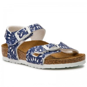Birkenstock Sandalen Rio 1012712 Nautical Print Blue [Outlet]
