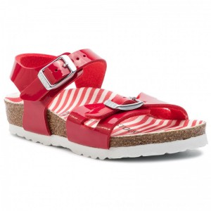 [BLACK FRIDAY] Birkenstock Sandalen Rio Kids 1012720 Nutrical Stripes Red