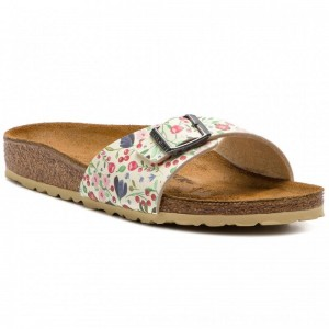 Birkenstock Pantoletten Madrid Bs 1012775 Meadow Flowers Beige [Outlet]