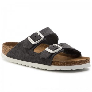 Birkenstock Pantoletten Arizona Bs 1012836 Gunmetal [Outlet]