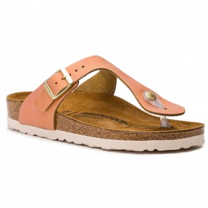 Birkenstock Zehentrenner Gizeh Bs 1012910 Washed Metallic Sea Copper [Outlet]