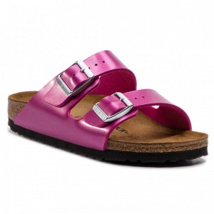 Birkenstock Pantoletten Arizona Bs 1012968 Electric Metallic Magenta [Outlet]