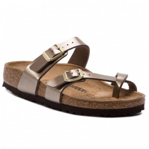 [BLACK FRIDAY] Birkenstock Zehentrenner Mayari 1012978 Electric Metalilic Taupe