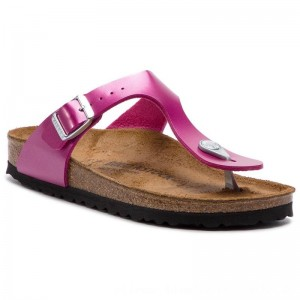 Birkenstock Zehentrenner Gizeh Bs 1012980 Electric Metallic Magenta [Outlet]