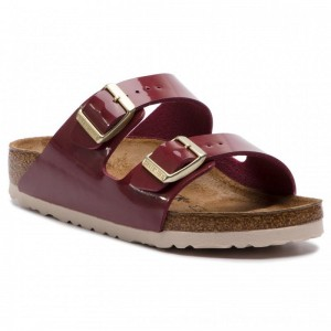 [BLACK FRIDAY] Birkenstock Pantoletten Arizona Bs 1013068 Patent Bordeaux