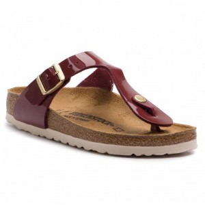 [BLACK FRIDAY] Birkenstock Zehentrenner Gizeh Bs 1013074 Patent Bordeaux