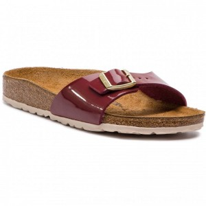 Birkenstock Pantoletten Madrid Bs 1013082 Patent Bordeaux [Outlet]