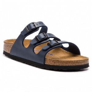 Birkenstock Pantoletten Florida Bs 0554713 Blue [Outlet]