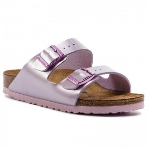 Birkenstock Pantoletten Arizona Kids 1012510 Electric Metallic Lilac