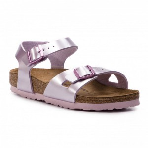 Birkenstock Sandalen Rio Kids 1012522 D Electric Metallic Lilac [Outlet]