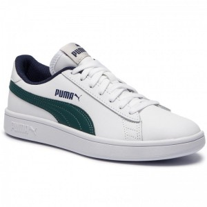 Puma Sneakers Smash V2 L Jr 365170 10 White/Ponderosa Pine [Outlet]