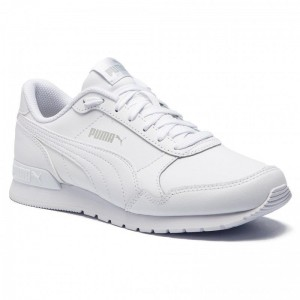 Puma Sneakers St Runner v2 L Jr 366959 02 White/Gray Violet [Outlet]