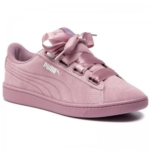 Puma Sneakers Vikky V2 Ribbon S 369726 03 Elderberry/Elderberry/Silver [Outlet]