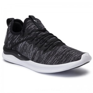 Puma Schuhe Ignite Flash EvoKnit 190508 02 Black/Asphalt/White [Outlet]