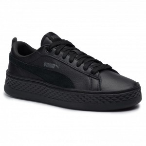 Puma Sneakers Smash Platform L 366487 01 Black/Puma Black [Outlet]