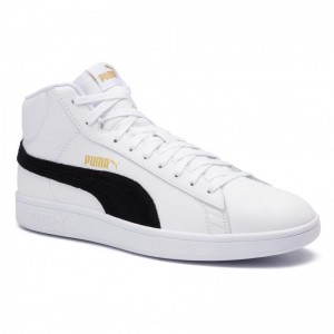 Puma Sneakers Smash v2 Mid L 366924 05 White/Black/Gold/High Rise [Outlet]