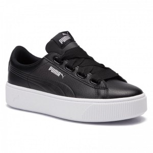 Puma Sneakers Vikky Stacked Ribb Core 369112 01 Black/Puma Black [Outlet]