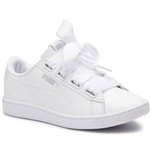Puma Sneakers Vikky V2 Ribbon Core 369114 02 White/Puma Silver [Outlet]
