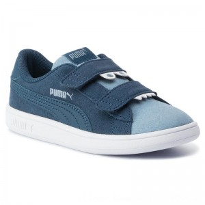 Puma Sneakers Smash V2 Monster V Inf 369681 03 Gibraltar Sea/Faded Denim [Outlet]
