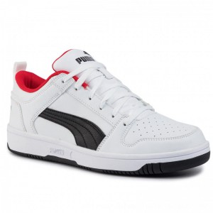 Puma Sneakers Rebound Layup Lo Sl 369866 01 White/Black/High Risk Red [Outlet]