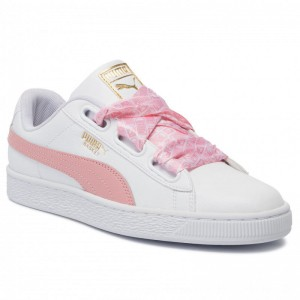 Puma Sneakers Basket Heart Reinvent Wn's 369935 01 White/Bridal Rose [Outlet]