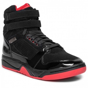Puma Schuhe Palace Guard Mid Red Carpet 370073 01 Black/Risk Red/Bronze [Outlet]