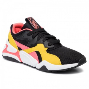 Puma Sneakers Nova Funky Jr 370131 01 Black/Sulphur [Outlet]