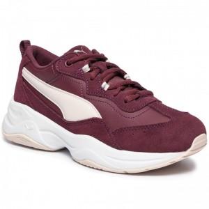 Puma Schuhe Cilia Sd 370283 03 V Wine/P Parchment/Slvr/Wht [Outlet]