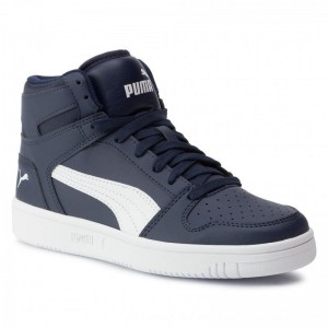 Puma Sneakers Rebound Layup Sl Jr 370486 04 Peacoat/Puma White [Outlet]