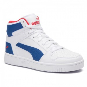 Puma Sneakers Rebound Layup Sl Jr 370486 05 White/Galaxy/Blue/Red [Outlet]