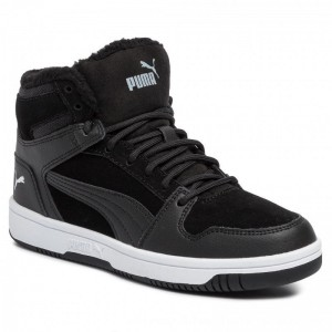 Puma Sneakers Rebound Layup Fur SD Jr 370497 01 Black/Puma White [Outlet]