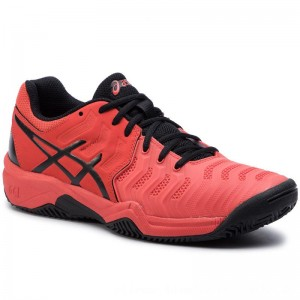 Asics Schuhe Gel-Resolution 7 Clay Gs C800Y Cherry Tomato/Black 801 [Outlet]
