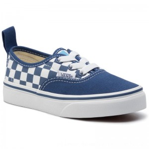 Vans Turnschuhe Authentic Elastic VN0A38H4VDX1 M (Checkerboard) True Navy [Outlet]