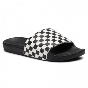 Vans Pantoletten Slide-On VN0004KIIP91 (Checkerboard) White [Outlet]