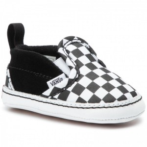 Vans Turnschuhe Slip-On V Crib VN0A2XSLFB71 Black/Truewhite [Outlet]