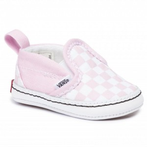Vans Turnschuhe Slip-On V Crib VN0A2XSLUY41 (Chckrbrd) Lila Snw/Tr Wht [Outlet]