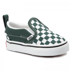 Vans Turnschuhe Slip-On V VN0A3488V4D1 (Checkerboard) Trkngrtrwht [Outlet]