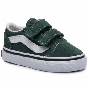 Vans Turnschuhe Old Skool V VN0A38JNV3N1 Trekking Green/Treu White [Outlet]