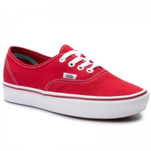 Vans Turnschuhe Comfycush Authe VN0A3WM7VNF1 (Classic) Racing Red/True [Outlet]