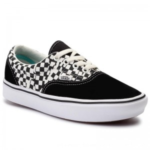 Vans Turnschuhe Comfycush Era VN0A3WM9V9Y1 (Tear Check) Blk/True Wht [Outlet]